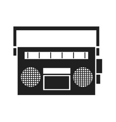 vintage stereo radio music image vector image