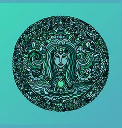 abstract mandala ornament asian pattern with long vector image