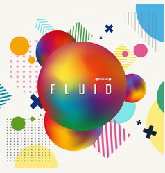 abstract of colorful gradient fluid geometric vector image