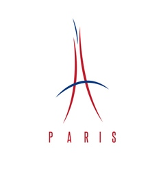 abstract of Eiffel Tower in Paris vector image