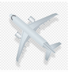 airplane top view high vector image