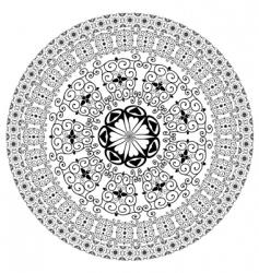 arabesque pattern round vector image vector image