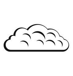Autumn cloud icon simple style vector