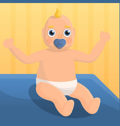 baby nipple concept background cartoon style vector image