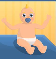 Baby nipple concept background cartoon style vector