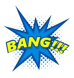 Bang comic book explosion icon pop art style vector