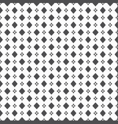 Black dense big and small rhombus dots pattern on vector