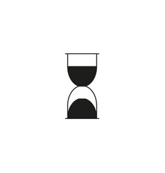 black hourglass icon vector image