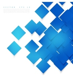 Blue squares Abstract background vector