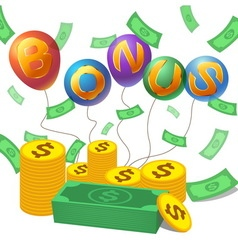 Bonus with moneycoin vector