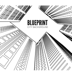 Building wireframe 3d render city vector image