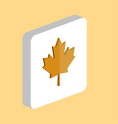 Canadian leaf computer symbol vector