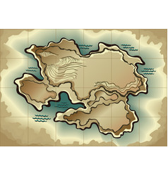 cartoon island map template for next level game vector image
