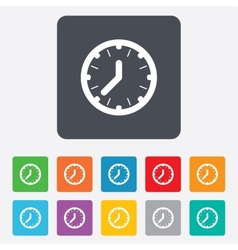 Clock time sign icon Mechanical watch symbol vector image