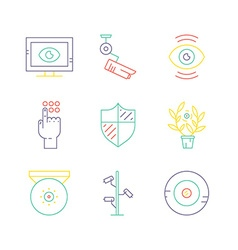 Colored Camera Icons vector