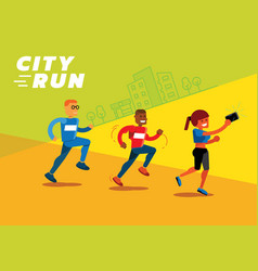 colorful city run vector image