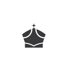 crown logo template icon vector image