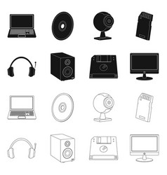 Design of laptop and device sign set of vector