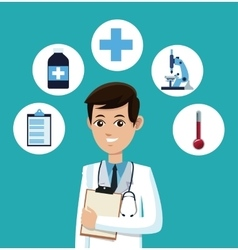 doctor medical service hospital icons vector image