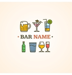 Drink alcohol beverage sign vector