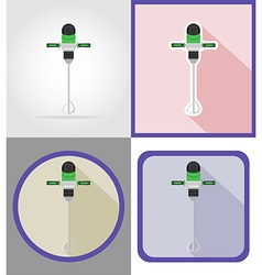 electric repair tools flat icons 09 vector image