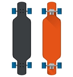 Flat of colored longboards vector image