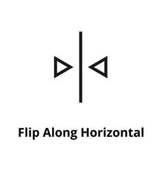 flip along horizontal line icon vector image