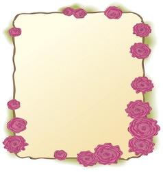 Framing of pink roses vector image