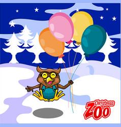 Fun owl christmas card vector
