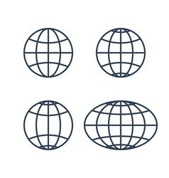 globe earth world icons vector image