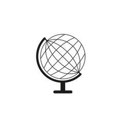 Globe sketch icon vector