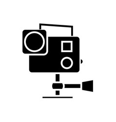 go pro video camera icon vector image