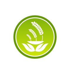 Healthy-Food-Logo-380x400 vector image
