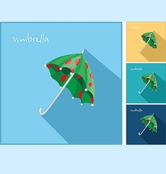 icons with an umbrella vector image vector image
