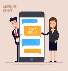instant messaging service messaging service sms vector image
