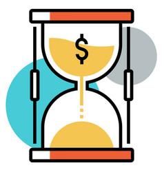Investment duration flatoutline vector