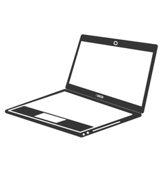 Laptop in vintage colors vector image