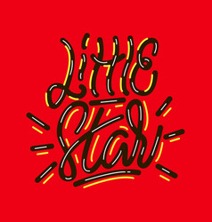 little star lettering print vector image