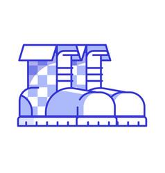 lumberjack boots icon vector image