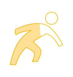 man pictogram symbol vector image