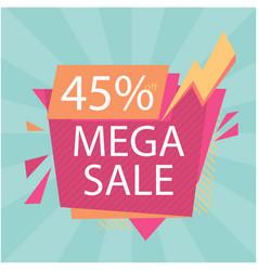 mega sale 45 off bolt background image vector image