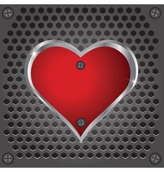 Metal heart vector