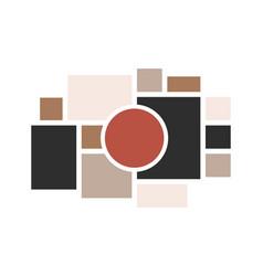 moodboard layout photo frames mosaic minimalist vector image