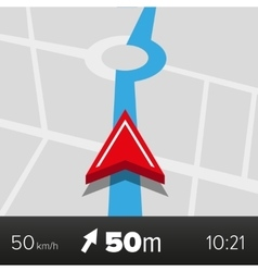 Navigation - Map with arrow vector image