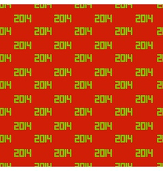 new year 2014 Seamless background Eps10 vector image