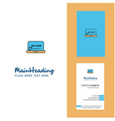 online shopping creative logo and business card vector image