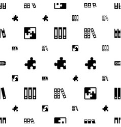 Order icons pattern seamless white background vector