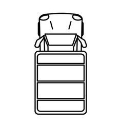 Parked car topview icon imag vector