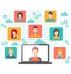 people connecting concept vector image