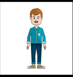 People man with casual cloth avatar icon vector